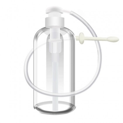 MIZZZEE Press Bottle Washer Anal Douche Vagina Cleaning Kit 600ML Press Bottle Washer Anal Vagina Shower Cleaner Enema Rectal Syringe Adult Product Sex Toy Sex Toys for Couple