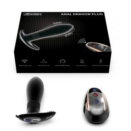 JEUSN - Anal Dragon Plug Vibration Massager Wireless Remote - Chargeable Anus Plug Silicone Vibrator Prostate Massager G-sport Massager Clitoris Stimulator Masturbation Adult Sex Toys for Couple