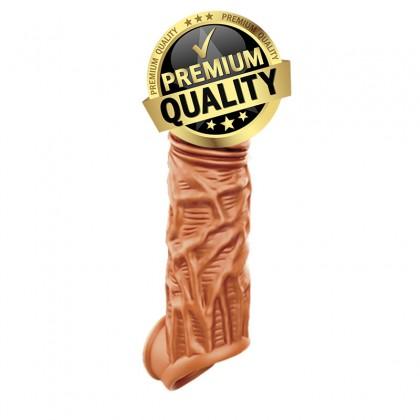 PLEASE ME Liquid Silicon Penis Extender Sleeve L:13.5cm - D:3.7cm Male Delay Soft Silicone Penis Sleeve Condom Enlargement Extender Reusable Condoms Extension Sleeve Adult Toy For Men Alat Seks Lelaki (Semburan Tahan Lama)