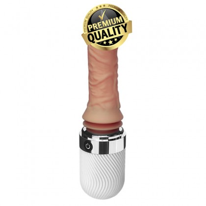 DIBE - Automatic Thrusting Heating Realistic Dildo Vibrator Sex Machine L:11.5cm - D:3.5cm Super Real Soft Silicone Dildo Vibrator Heating Artificial Penis Vibrating For Women Masturbator Sex Toys Strong Suction Cup Alat Seks Toy Perempuan