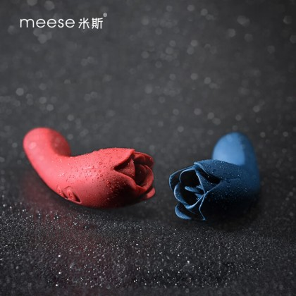 Meese - Dora Rose Tongue Licking Massager G-Spot Vibrator Chargeable - Blue Powerful Multi-Speed Magic Wand Body Massager Sex Toys for Women Clitoris Stimulator AV Rod G-spot Vibrators Orgasm Adult Sex Toy Alat Seks Perempuan