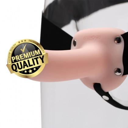 OMYSKY - Male Hollow Soft Strap-On Dildo L:13.9cm - D:3.8cm Real Soft Dildo Sex Toys For Couples Men Wearable Safe Huge Dildo Panties Strapon Dildo Hollow For Man Adult Toy Alat Seks Lelaki