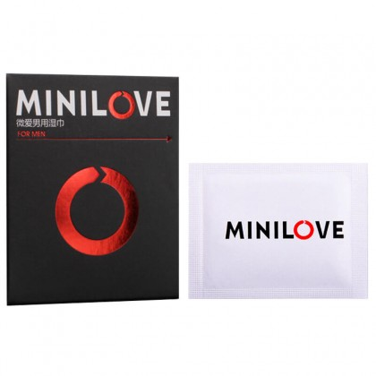 MINI LOVE Male Delay Ejaculation Wet Tissue 1.5ML/Piece Original Male Delay Spray Delay Lasting External Use Anti Premature Ejaculation Prolong 60 Minutes Adult Toy For Men Alat Seks Lelaki (Semburan Tahan Lama)