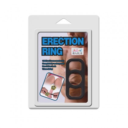 BAILE - Male Erection Lock Delay Penis Ring Male Delay Rings Ejaculation CockRing Penis Massager Dildo Adult Toy For Men Alat Seks Lelaki (Semburan Tahan Lama)