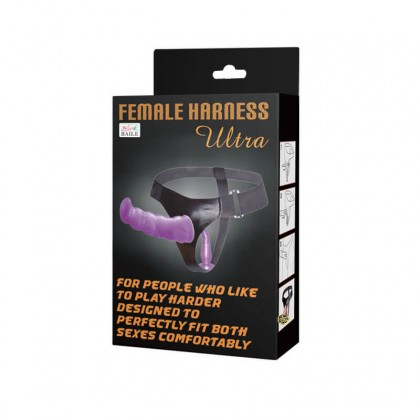 BAILE - Double Dongs Strap Ons Harness L:17.5cm - D:3.5cm Women Soft Real Dildos Pants adjustable Leather Wearable Strap on Couples Dildo Panties For Sex Toys Alat Seks Toy Perempuan