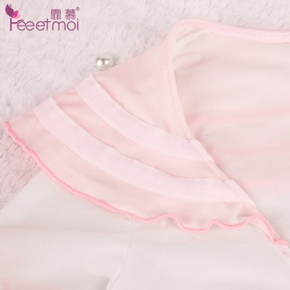 FEE ET MOI Innocent Sweet Student Costume White Sexy Lingerie Cute Cosplay Costumes Charming Nightdress Babydoll Nightwear Sexy Sleepwear Free Size For Women Transparent Dress Elasticity