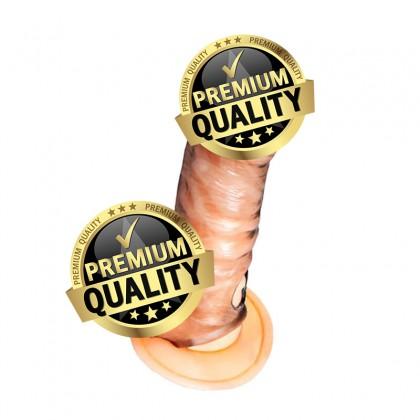 PLEASE ME Enlarge & Elongate Durable TPR Crystalline Male Penis Sleeve L:15.3cm - D:3.7cm Male Delay Soft Silicone Penis Sleeve Condom Enlargement Extender Reusable Condoms Extension Sleeve Adult Toy For Men Alat Seks Lelaki (Semburan Tahan Lama)