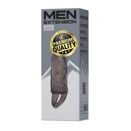 BAILE Penis Elongate L:13.5cm - D:3.5cm Male Delay Soft Silicone Penis Sleeve Condom Enlargement Extender Reusable Condoms Extension Sleeve Adult Toy For Men Alat Seks Lelaki (Semburan Tahan Lama)